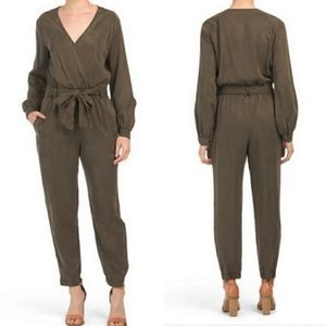 Young Fabulous Broke Catelyn Jumpsuit Olive NEW SM